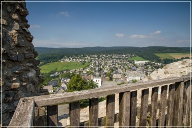 Burgruine mit Aussichtsplattform